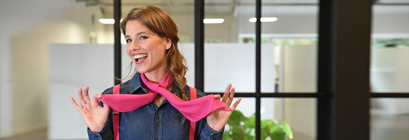 Fuchsia sjaal
